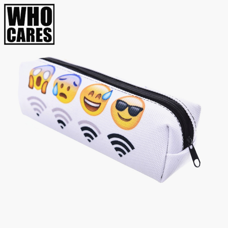 makeup bag wifi emoji 3d printing trousse de maquillage zohra student pencil bag cosmetic bags. Black Bedroom Furniture Sets. Home Design Ideas