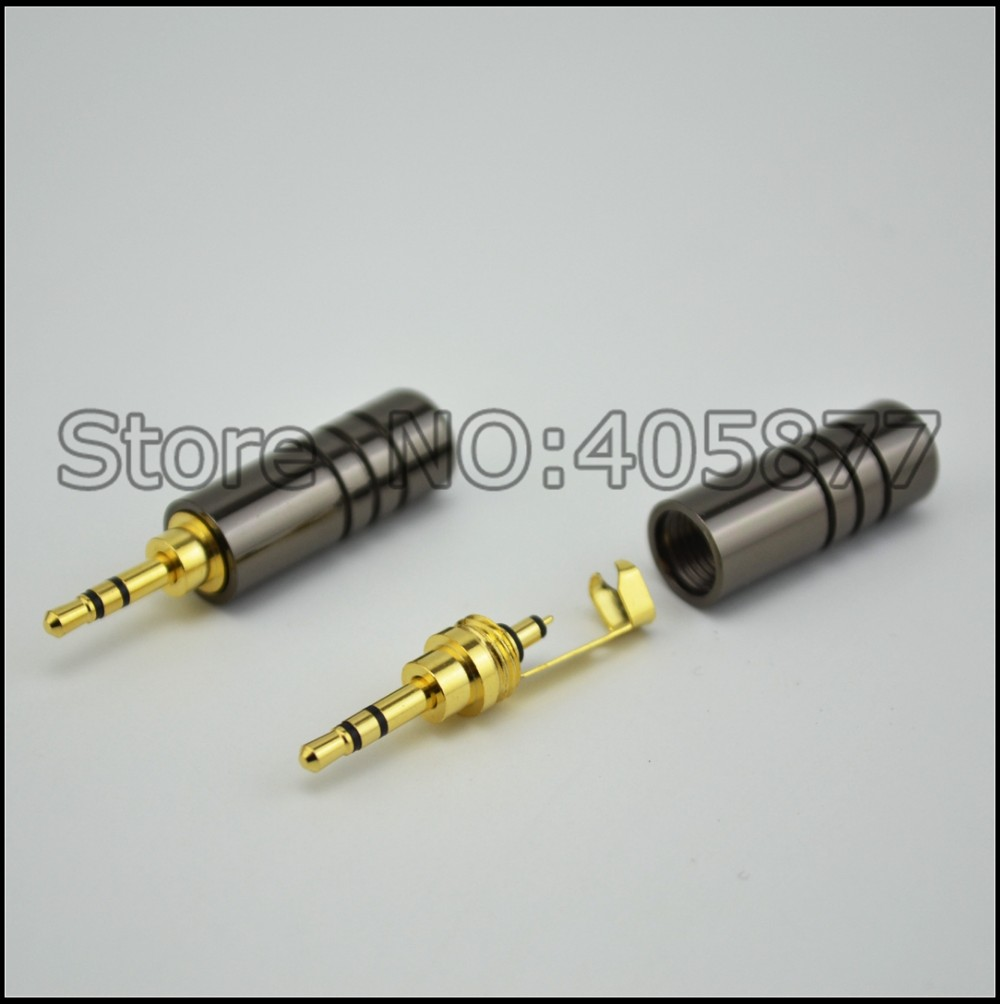 medium resolution of 2pcs 2 5mm 3 pole male repair headphone jack solder cable adapter connection audio plug connectors