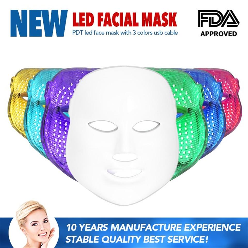 2017 NEW Popular Portable Anti-aging Beauty Machine Led <font><b>Light</b></font> Beauty Tools <font><b>Face</b></font> Mask 7 Colors