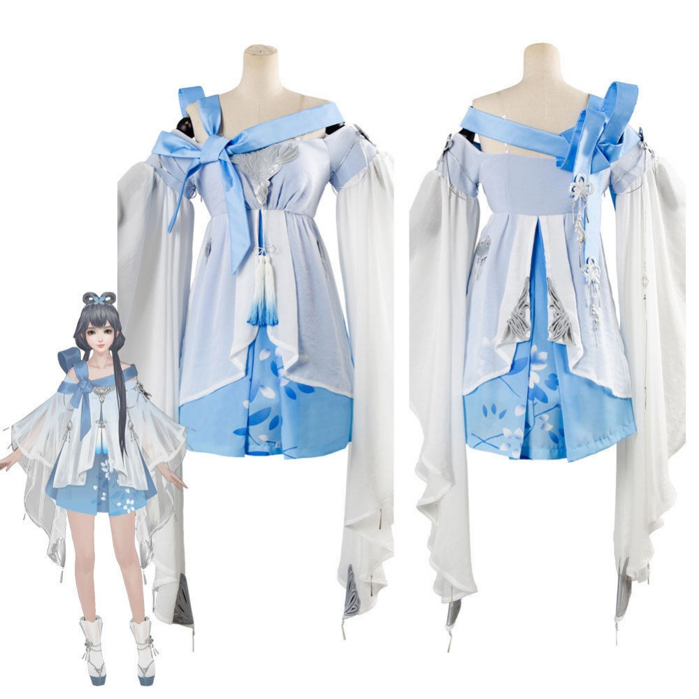Vocaloid Vsinger Cospaly Costume Moonlight Blade Magic Blade Luo Tianyi Cosplay Costume Dress Suit Uniform Outfit