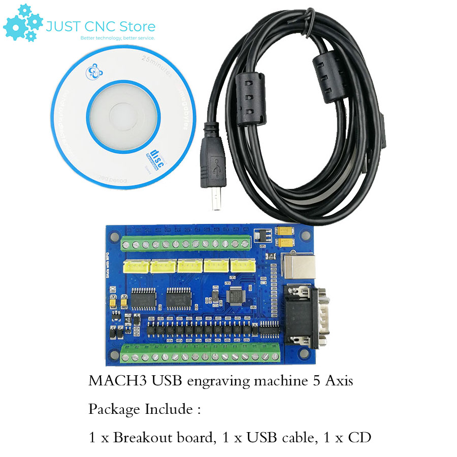Mach3 Usb Cnc Driver Breakout Board Engraving Machine 5 Axis With Mpg Stepper Motion Controller Card 100k Electronic Handw