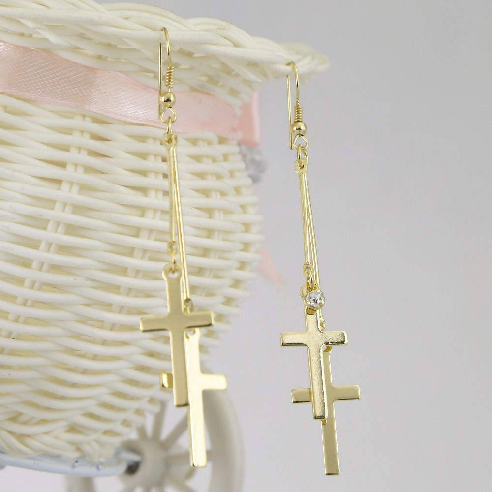 Compare S On Long Dangle Cross Earrings Online Ping