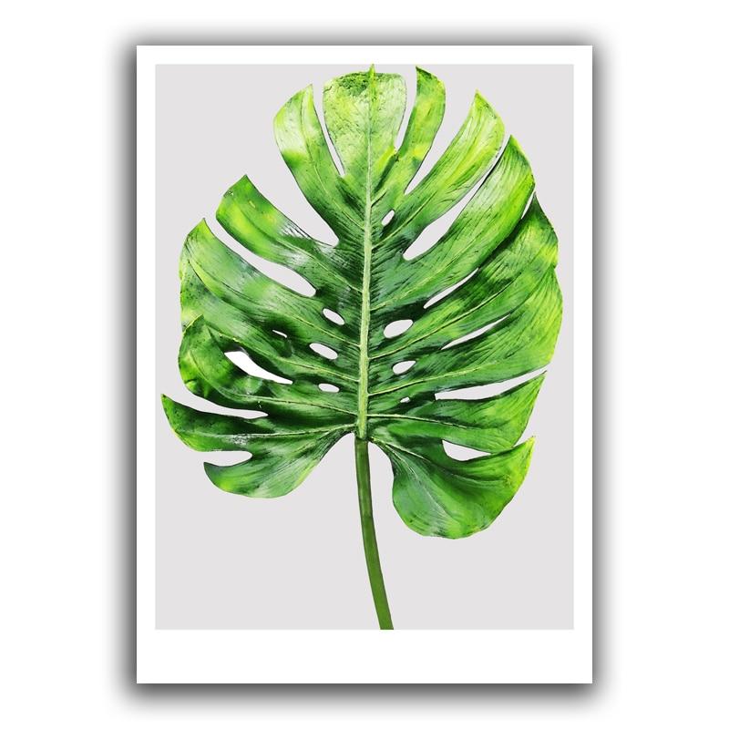 Tropical Palm Leaf Плакат Арт Принт, Цитат - Декор за дома - Снимка 2