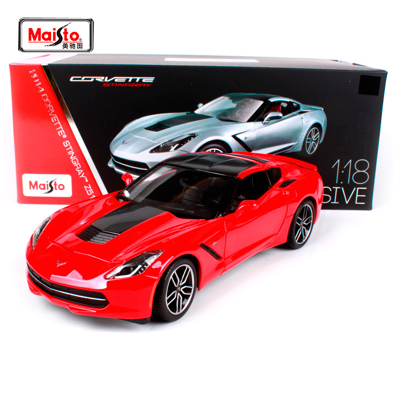 Maisto 1:18 2014 Chvrolet Corvette Z51 Sports Car Hardback Diecast Model Car Toy New In Box Free Shipping 38132 maisto 1 18 mini cooper sun roof diecast model car toy new in box free shipping 31656
