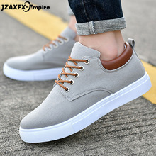 2018 New Men Canvas Shoes Lace-up Comfortable Flat Shoes Spring Summer Fashion Flat Loafers Men adult Footwear