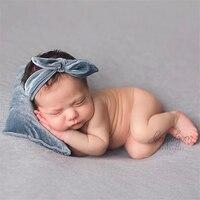 Newborn Photography Props baby hat Sleeping Cap + Pillow + Headband 3PCS fashion Soft Shiny Baby Photo Prop lovely Hat