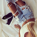 2017 Burst models in Europe and America loose big yards sexy wild exaggeration big hole boyfriend ripped jeans for women  MZ317