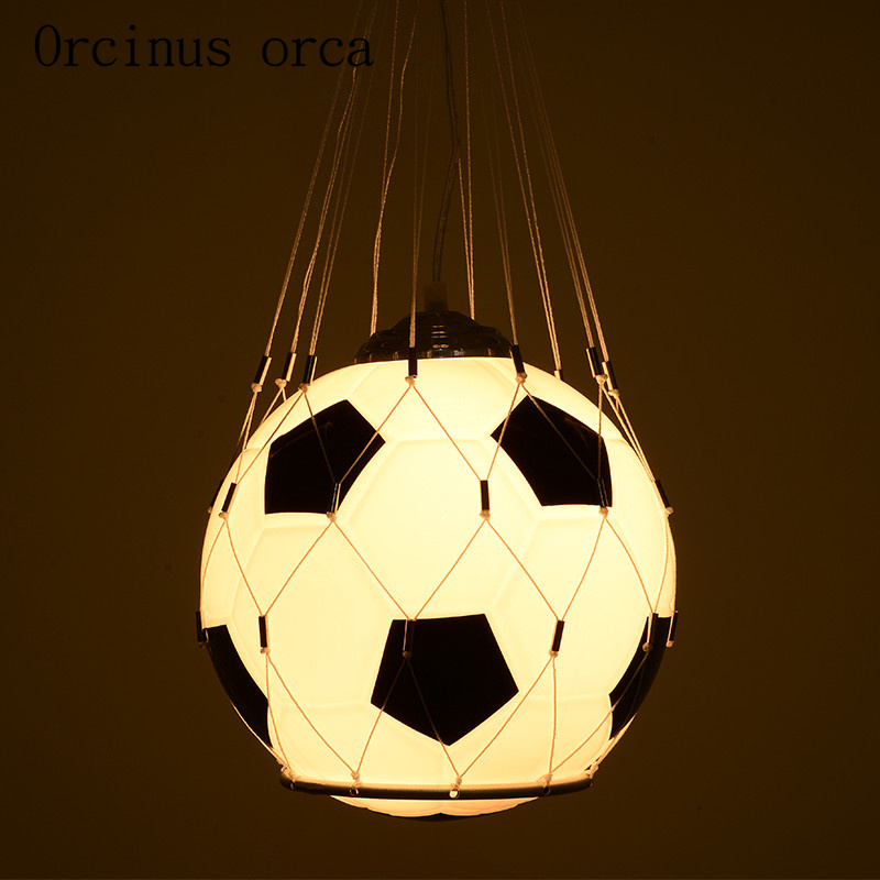 Kid's Room Lighting LED Football Pendant Lights Child Bedroom Cartoon E27 for Living Room Home Decoration AC110-220V