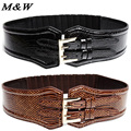 2017 European And American Snake Print Wild Fur Leather Belt Woman Decoration Fashion Elastic Ceinture Homme Marquee Wholesale