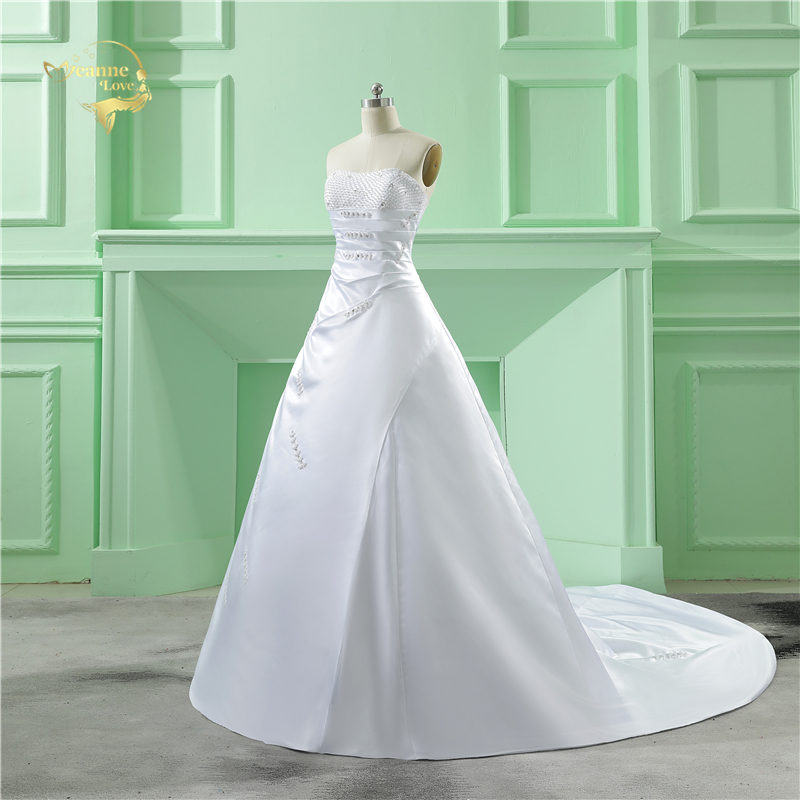 Partihandel Vestido De Noiva 2019 Klassisk Design Perfekt Casamento - Bröllopsklänningar - Foto 3