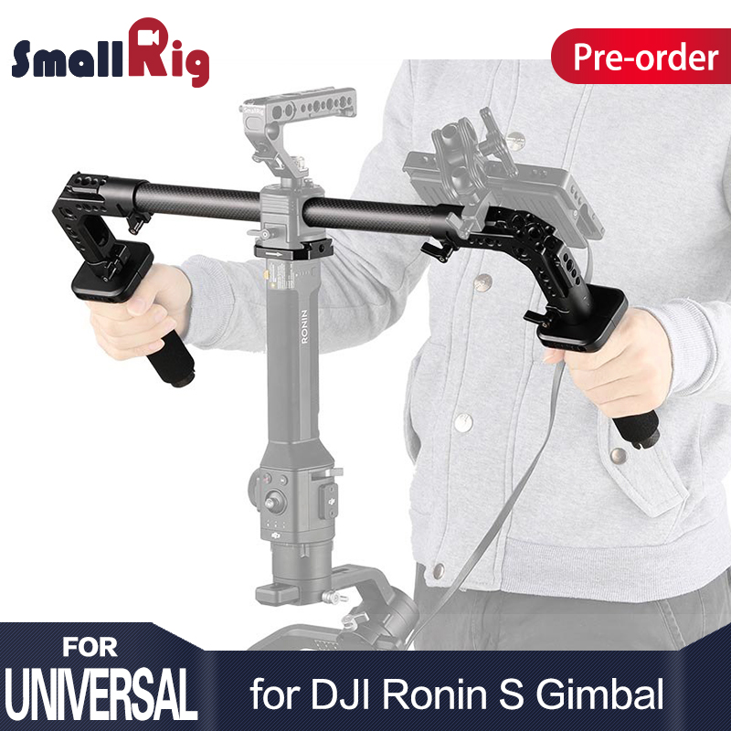 SmallRig DSLR Camera Shooting Dual Handgrip for DJI Ronin S/Zhiyun Crane Series Handheld Gimbal Light Weight 2210 smallrig universal camera grip wooden side handle for ronin s for zhiyun crane series handheld gimbal 2222