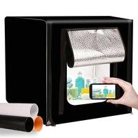 GSKAIWEN 40*40cm 15.7inch Dimmable LED Photo Studio Box Folding Backdrops Softbox Photography Lightbox Shooting Tent Box Kit