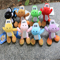 1pcs Super Mario Bros Yoshi Dragon Soft Plush Toy Doll 8colors  11CM High Quality  Toys Retail