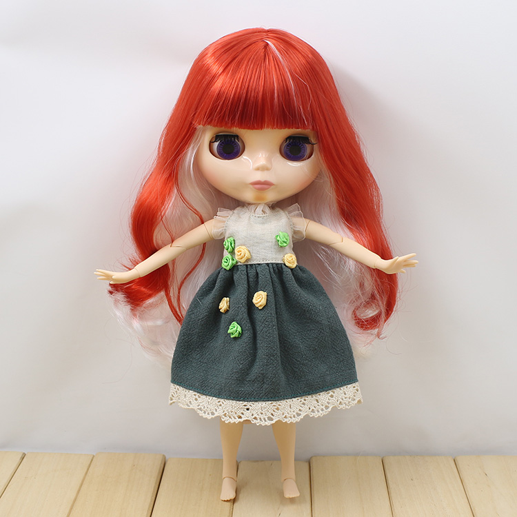 Nude Blyth doll with joint body red and white hair bjd 1/6  doll 12 fashion blyth doll diy toys nude blyth joint body bjd 1 6 blyth poppen short beige hair doll toys for girls