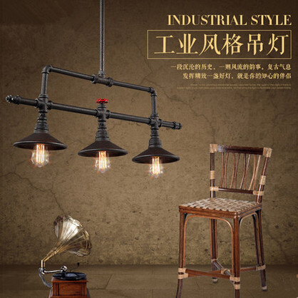 Edison Industrial Retro Loft Style Vintage Pendant Lights Fxitures 3 Lights Bar Dinning Room Rope Pipe Lamp Suspension Luminaire retro loft industrial vintage led pendant lights fxitures with glass lampshade dinning room lamp lamparas colgantes