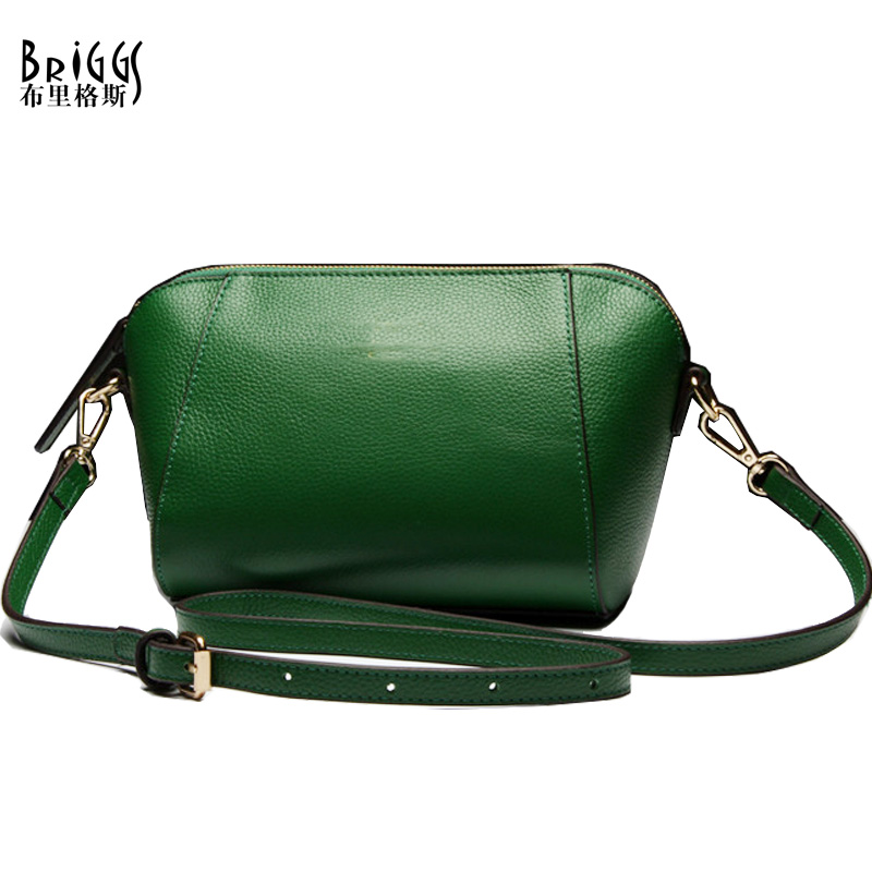 BRIGGS Woman Small Shell Bags High Quality Cow Genuine Leather Women Shoulder Messenger Bag Crossbody Bag For Women hongu genuine leather women messenger bag high quality cow leather small crossbody shell bag women fashion shoulder bag