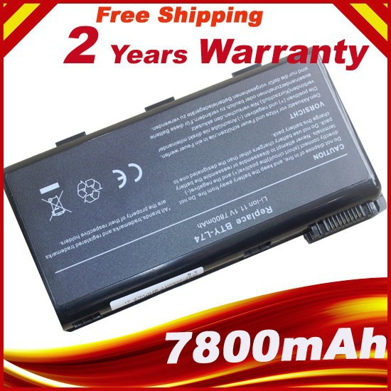 7800mAh 9 Cells Battery BTY-L74 For <font><b>MSI</b></font> BTY-L75 MS-1682 A5000 A6000 A6200 A6203 A7005 A7200 CR500X CR600 CR610 <font><b>GE700</b></font> CR700X image