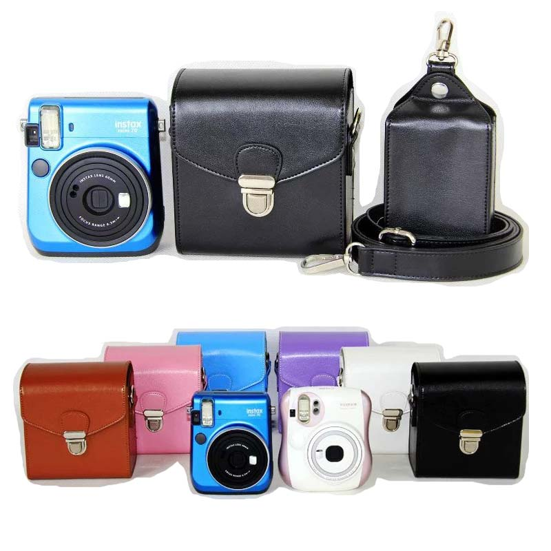 6 colors pu leather case cover set for fuji fujifilm for Housse instax mini 70