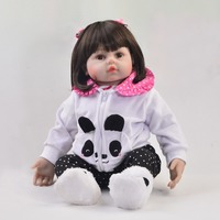 Cartoon Babies Doll 24 Inch So Truly Newborn Reborn Babies Doll Silicone Body Stuffed PP Cotton DIY Toys 60 cm bebe Menina Gifts