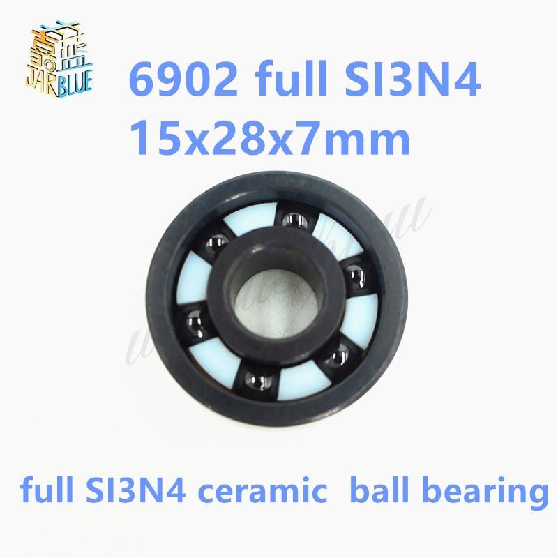 Free shipping 6902 full SI3N4 ceramic deep groove ball bearing 15x28x7mm 61902Free shipping 6902 full SI3N4 ceramic deep groove ball bearing 15x28x7mm 61902