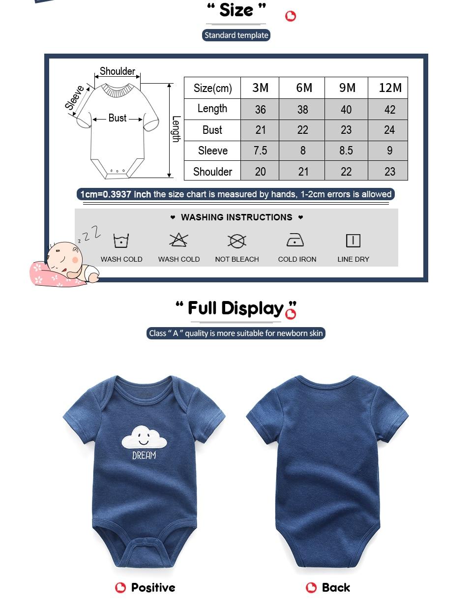 3PCS/lot Baby Rompers 2019 Short Sleeve Cotton overalls Newborn clothes roupas de bebe baby boys girls jumpsuit&clothing sets