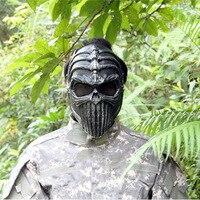 Juego de Guerra Cs Máscara de Calavera Esqueleto de Caza Al Aire Libre Airsoft Paintball party Festival Helloween Máscara Protectora de La Cara Llena Táctica