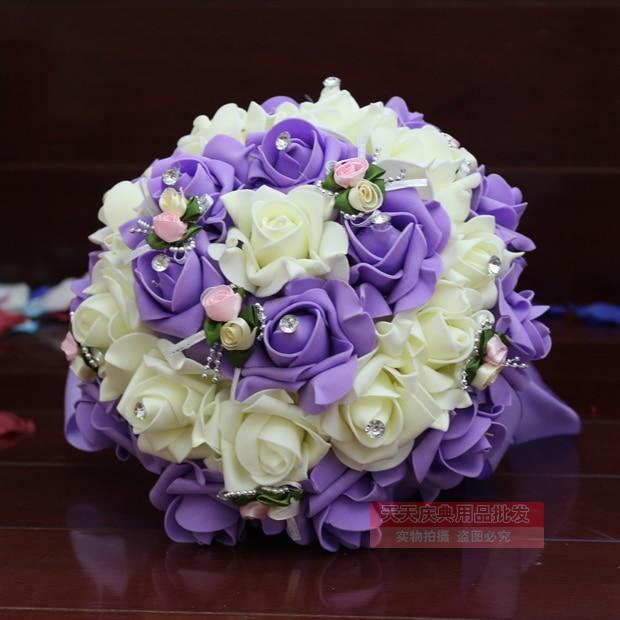 Korean Wedding Flowers: Free Shipping Korean Wedding Bride Holding Flowers