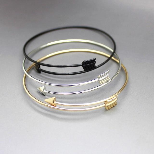 Nouveau Mode Or Argent Flèche Bracelet Bracelet Pour Les Femmes Bijoux En Gros 8389