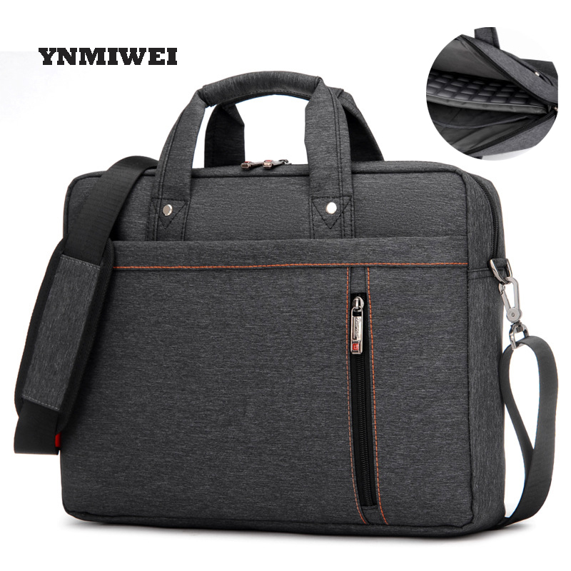 YNMIWEI Messenger Bag For Laptop Briefcase 13/1415/17 Unisex Daily Waterproof Laptop Bag Nylon For Macbook Air Pro Bag
