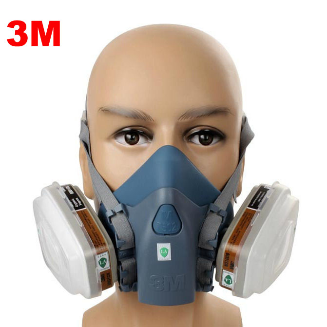 ФОТО 37502respirator face gas mask painted activated carbon dust tight smoke proof Chemical Pesticide formaldehyde