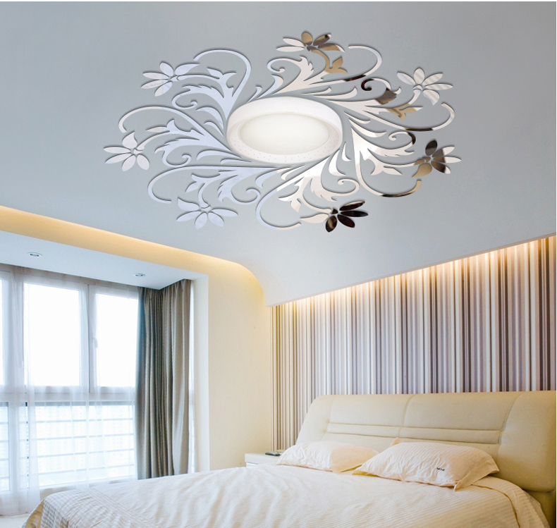 Ceilling Decoration Diy Top Ceilling Mirror Wall Sticker Top Lighting The Ceiling Chandelier