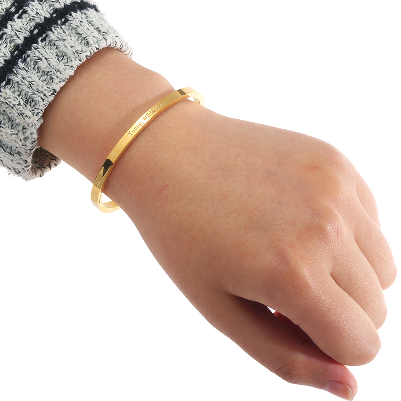 5c93e8b3e16 Yehwang 2016 Classic Stainless Steel Gold Plated Women Bangles Casual  Fashion Word Bracelet Bangle Brand Designer Jewelry 271506-in Bangles from  Jewelry ...