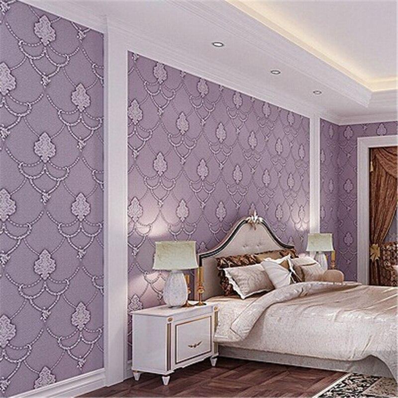 Beibehang papier peint de parede Non flocage motif Floral Europea 3d damassé revêtement mural Style moderne minimaliste papier peint