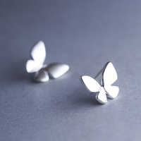 925 Sterling Silver Butterfly Earrings Korean Fashion Cute Authentic Hypoallergenic Jewelry Wholesale 5216