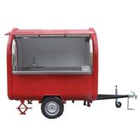 KN 220B красный цвет фургончик с едой/прицеп/Мороженое грузовик/закуски тележки с Бесплатная доставка по морю