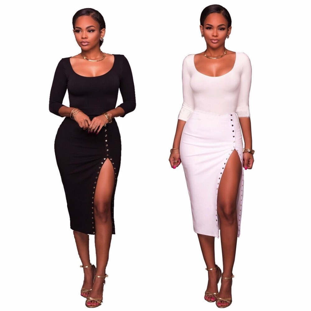 OKAYOASIS Free Shipping Elegant Sexy 2 Piece Set Summer Women Dresses 2017 Clothing Dress Casual Dresses Set