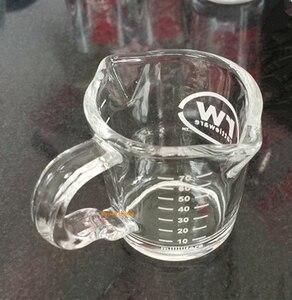 Image 3 - 1 PC 70ML hiqh jakości wysokiej temperatury szkło odporne na ciepło filiżanka espresso espresso narzędzia szklany kubek ze skalą