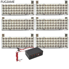 FUGSAME FREE SHIPPING 6*48LED Strobe Fire  Warning Grill Light WHITE 3 FLASHING MODE