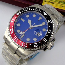 43mm Bliger Blue Dial Sapphire Glass Luminous Marks Date Stainless steel Case Top Brand Luxury Automatic Movement men's Watch 46mm bliger brown dial rose golden case date 2018 top brand luxury sapphire glass luminous hand automatic mechanical men s watch