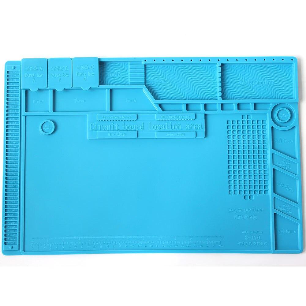 S 170 Insulation Pad Heat Resistant Silicon Soldering Mat 480mm X 318mm Working Pad Desk Platform Solder Rework Repair ToolsElectric Soldering Irons   - AliExpress