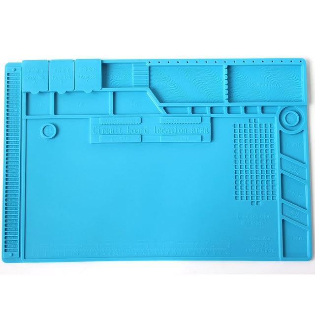 S 170 Isolierung Pad Wärme Beständig Silicon Löten Matte 480mm X 318mm Arbeits Pad Schreibtisch Plattform Solder Rework reparatur Werkzeuge