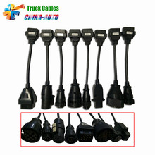 Newest Full Set 8 Truck Cables OBD2 Diagnostic OBD OBDII OBD 2 Connect Car Cable For TCS CDP Pro