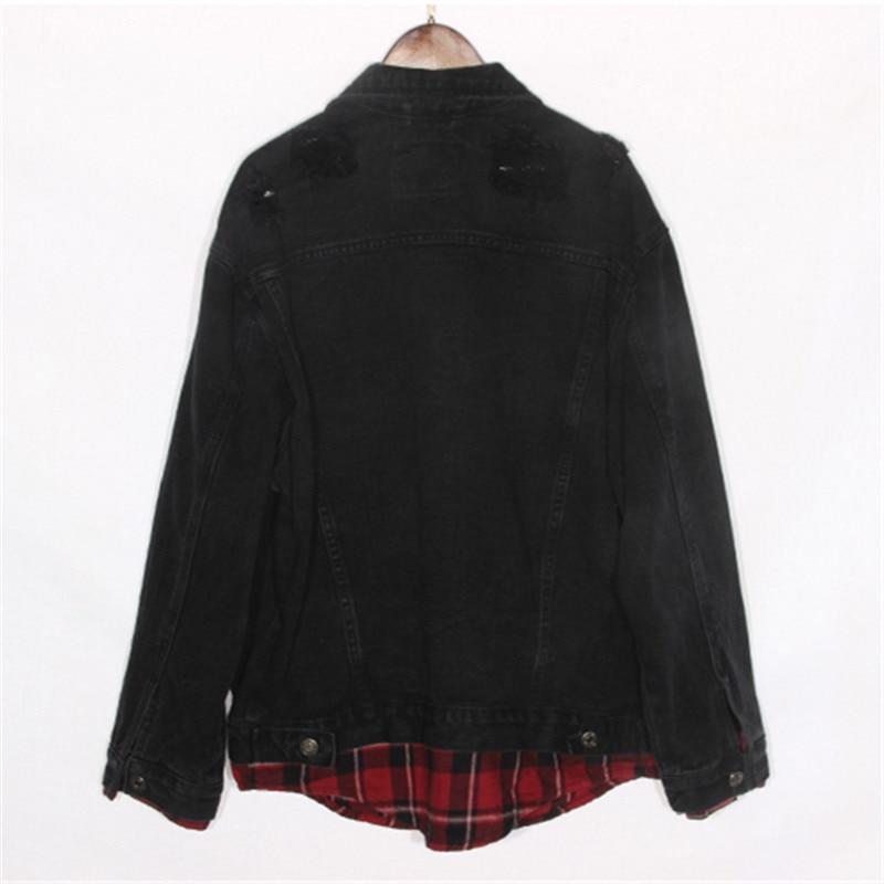 Jeans Manteau En Base Black Féminin Nouveau Vêtements Veste Streetwear Jean Court Noir Vintage 2018 De Splice Femmes Harajuku blue Ap6Aw1