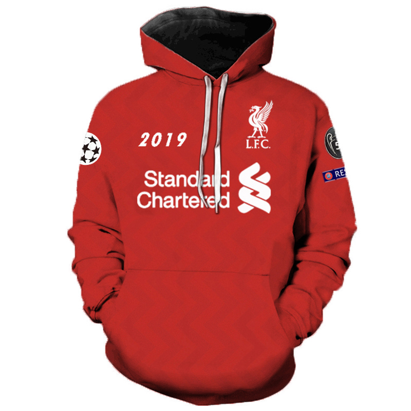 Casual Hoodies Liverpool Football 3d-Printed Personality Men Unisex Women