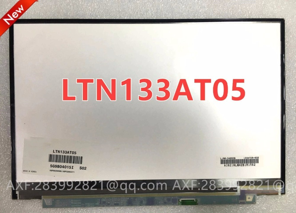 Original LTN133AT05 LTD133EWZX For Sony Vaio VGN-SR Series 13.3 Laptop LCD Screen 1280*800 original genuine new 17 inch laptop lcd screen hinges for sony vaio vgn vgn ar ar68 ar32 965 ar ar320e series left right