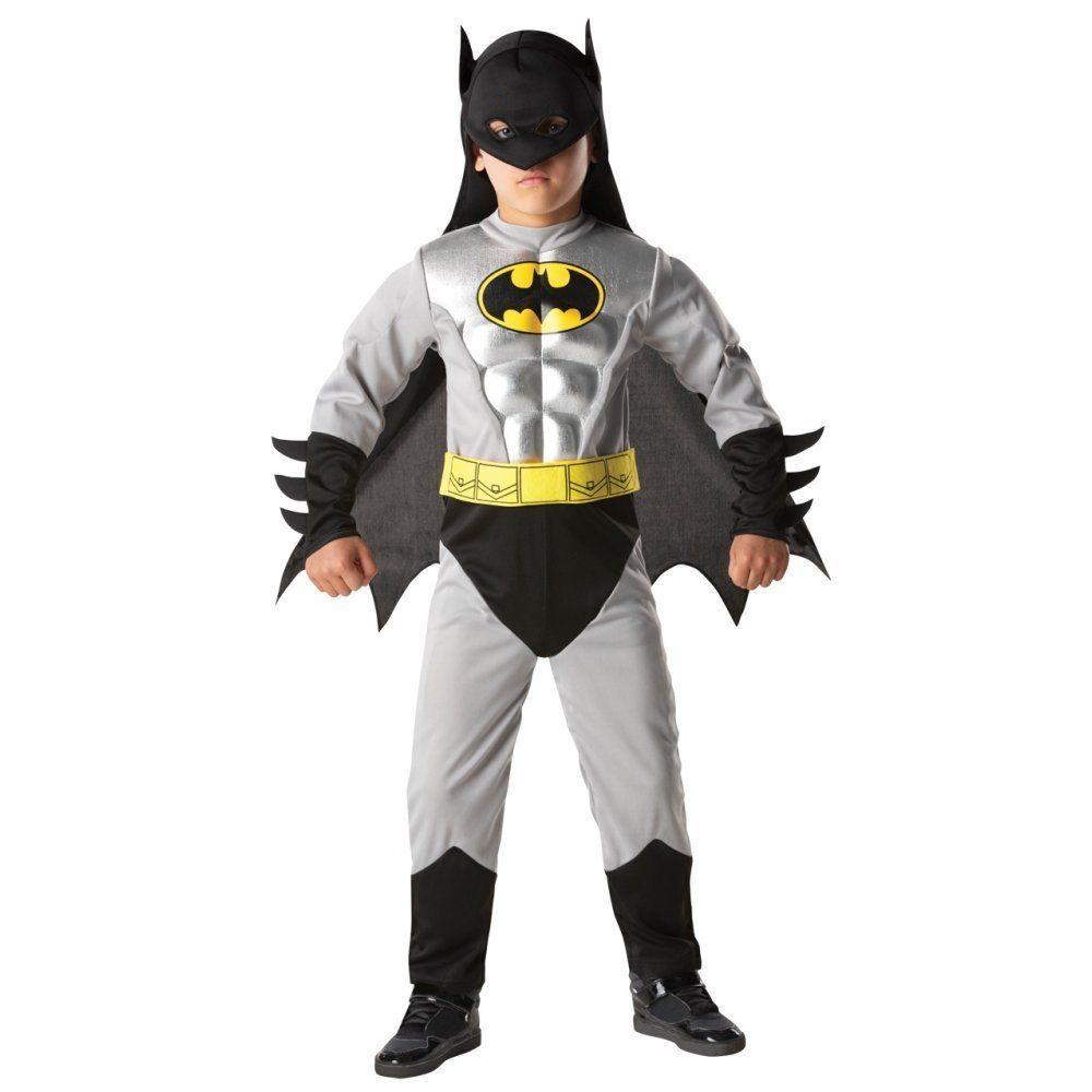Venda quente Criança Menino Músculo Batman DC Comic Superhero Filme Personagem Cosplay Fancy Dress Halloween Carnaval Trajes Do Partido