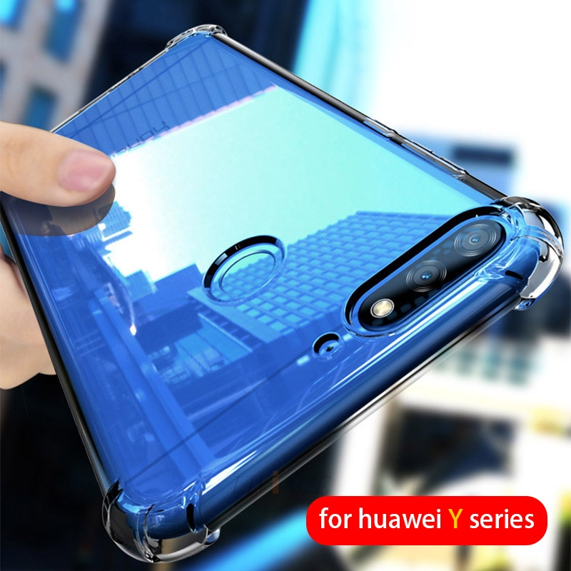 shockproof Airbag clear phone <font><b>case</b></font> on <font><b>for</b></font> <font><b>huawei</b></font> y9 y7 <font><b>y6</b></font> y5 y3 <font><b>prime</b></font> <font><b>2018</b></font> 2017 2019 ii y5 lite Transparent soft tpu back <font><b>cover</b></font> image
