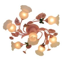 OOVOV Pink Flowers Girls Room Ceiling Lamps Creative Childrens Lamp Bedroom Lights