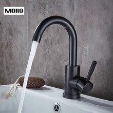 цены на MOIIO Modern Bathroom /Kitchen Basin Faucet Oil Rubbed Bronze Tap Black Color Faucet Home Improvement for Bathroom  в интернет-магазинах