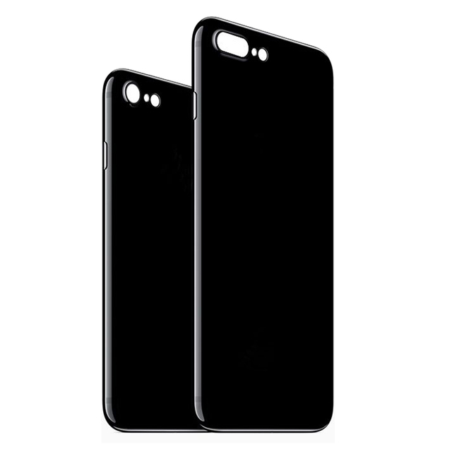 new style 64435 bf709 Jet Black Phone Covers for iPhone 7 Case Flexible Plastic Super Thin Slim  Fit Phone Cases for iPhone 7 Plus Capa Funda